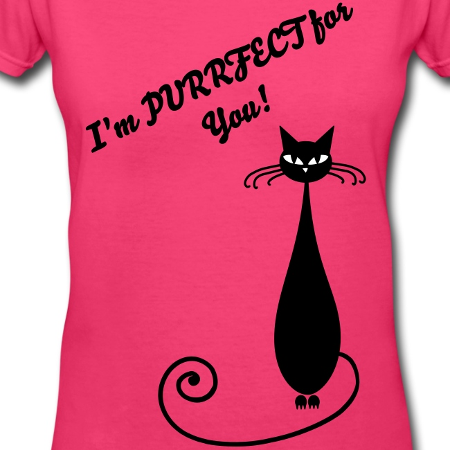Purrfect For You V-neck T-shirt