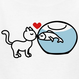 cat fish true love Kids' Shirts - Kids' T-Shirt