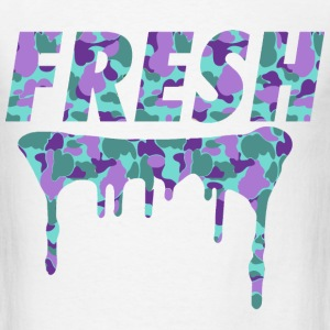 Fresh Drips Purple Camo Tee - Men's T-Shirt