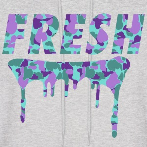 Fresh Drips Purple Camo Hoody - Men's Hoodie