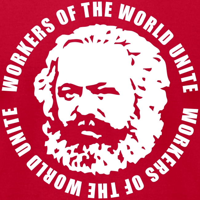 Karl Marx Slogan Jersey Tee (click for more colors)
