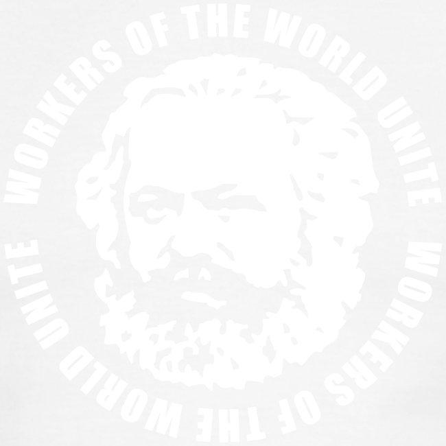 Karl Marx Slogan Ringer Tee