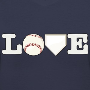 Love Baseball - Women's V-Neck T-Shirt