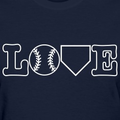 Baseball Love Women's T-Shirts