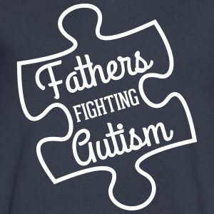 Fathers Fighting Autism V-Neck - Men's V-Neck T-Shirt by Canvas