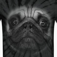 PUG (pug face - big - black and white) T-Shirts