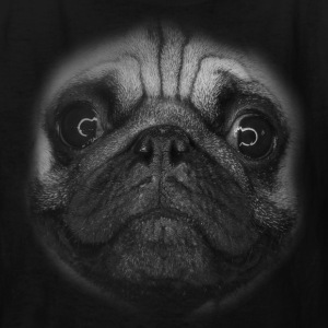 PUG (pug face - big - black and white) Kids' Shirts - Kids' T-Shirt