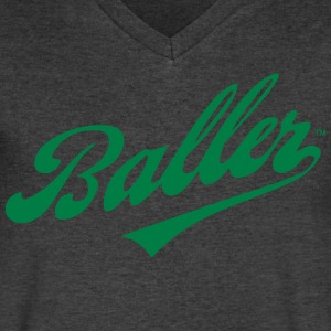 BALLER T-Shirts - Men's V-Neck T-Shirt by Canvas