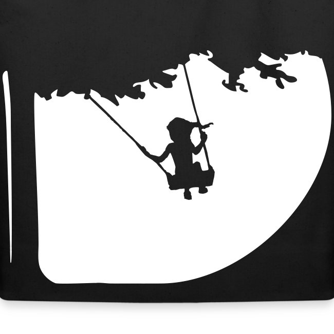 Summertime swing Black Cotton Tote