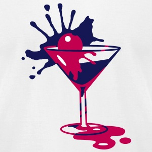 Cocktail with cherry T-Shirts - Men's T-Shirt by American Apparel