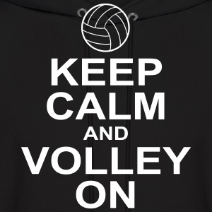 keep calm and volley on Hoodies - Men's Hoodie
