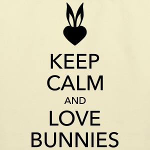 keep calm and love bunnies Bags  - Eco-Friendly Cotton Tote