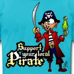 Support your local Pirate T-Shirts - Men's T-Shirt by American Apparel