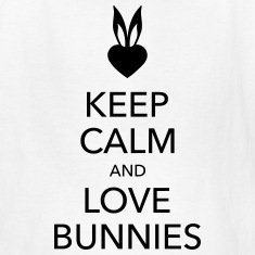 keep calm and love bunnies Kids' Shirts