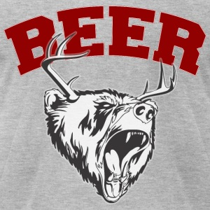Beer Deer and Bear T-Shirts - Men's T-Shirt by American Apparel