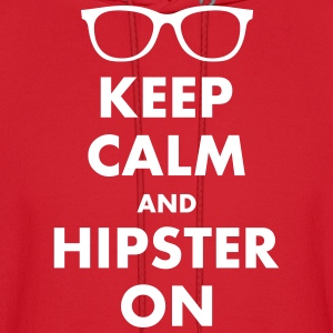KEEP CALM AND HIPSTER ON Hoodies - Men's Hoodie