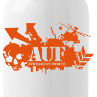 Design ~ AUF Logo - Metal Drink Bottle - Basic Logo - URL text box