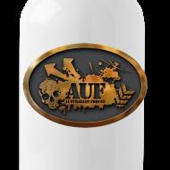 Design ~ AUF Logo - Metal Drink Bottle - Badge Logo - URL text box