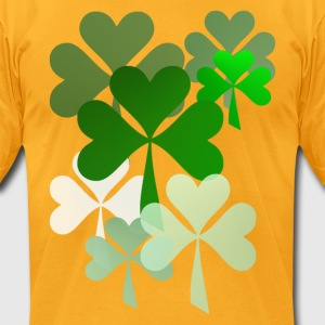 The Faded Shamrocks - Men's T-Shirt by American Apparel