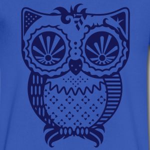 Patchwork owl T-Shirts - Men's V-Neck T-Shirt by Canvas