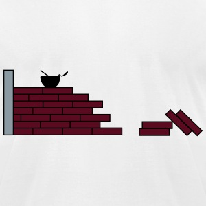 brick wall_m1 T-Shirts - Men's T-Shirt by American Apparel