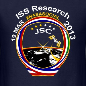 ISS NASA Social - JSC (Simple) T-Shirts - Men's T-Shirt