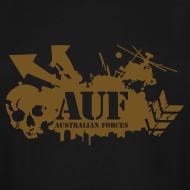 Design ~ AUF Logo - Men's TALL T-Shirt - basic Logo - Metallic GOLD LOGO + URL