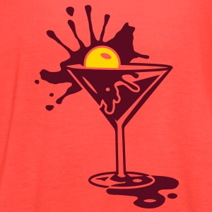 A cocktail with a cherry Tanks - Women's Flowy Tank Top by Bella