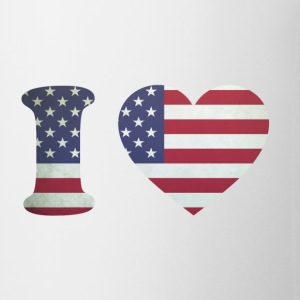 USA Heart Flag Bottles & Mugs - Coffee/Tea Mug