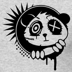 A sticker with panda bear head Long Sleeve Shirts