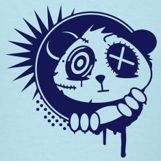 A sticker with panda bear head T-Shirts