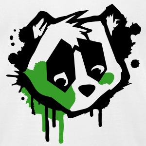 Bear Head in graffiti style T-Shirts - Men's T-Shirt by American Apparel