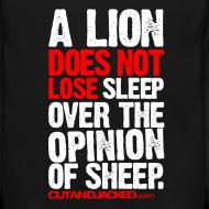 Design ~ A lion does not lose sleep | Mens jumper (wht pr)