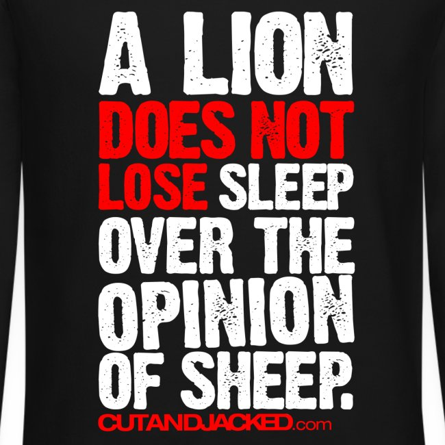 A lion does not lose sleep | Mens jumper (wht pr)
