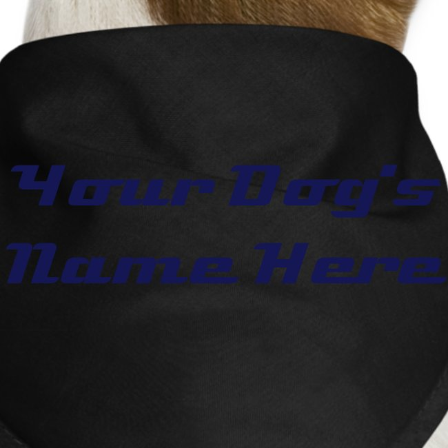 Doggy Bandana - Add your own text!