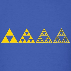 Sierpinski triangles - fractal T-Shirts - Men's T-Shirt