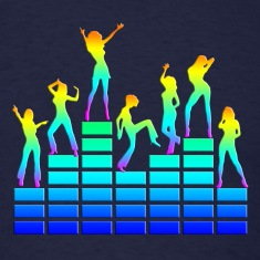 music - sound - equalizer - dancing girls T-Shirts