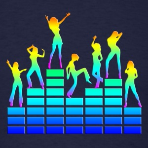 music - sound - equalizer - dancing girls T-Shirts - Men's T-Shirt