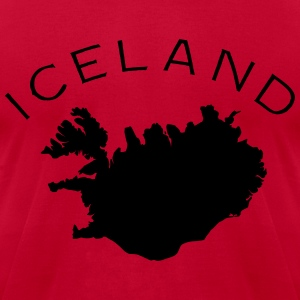 Iceland Flag Land T-Shirts - Men's T-Shirt by American Apparel