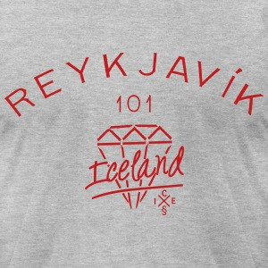 101 Reykjavik - Iceland T-Shirts - Men's T-Shirt by American Apparel