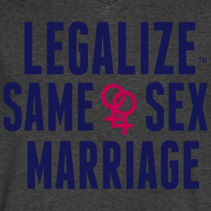 LEGALIZE SAME SEX MARRIAGE T-Shirts - Men's V-Neck T-Shirt by Canvas