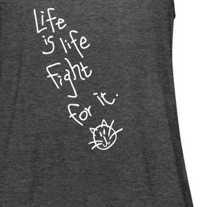 Life is Women's Flowy tank top by Bella - Women's Flowy Tank Top by Bella