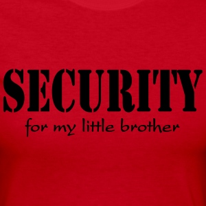 Security for my little brother Long Sleeve Shirts - Women's Long Sleeve Jersey T-Shirt