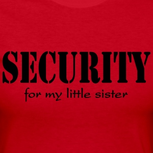 Security for my little sister Long Sleeve Shirts - Women's Long Sleeve Jersey T-Shirt