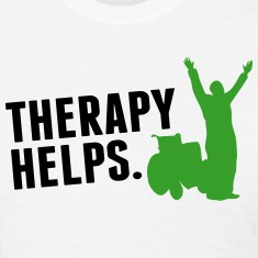 Therapy helps Women's T-Shirts