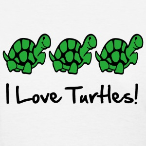I Love Turtles! Kim Richards  - Women's T-Shirt