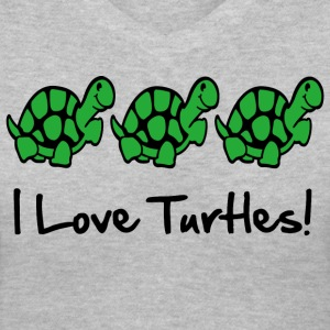 I Love Turtles! Kim Richards  - Women's V-Neck T-Shirt