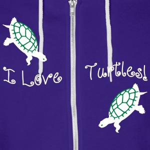 I Love Turtles! Kim Richards mp Zip Hoodies/Jacket - Unisex Fleece Zip Hoodie by American Apparel