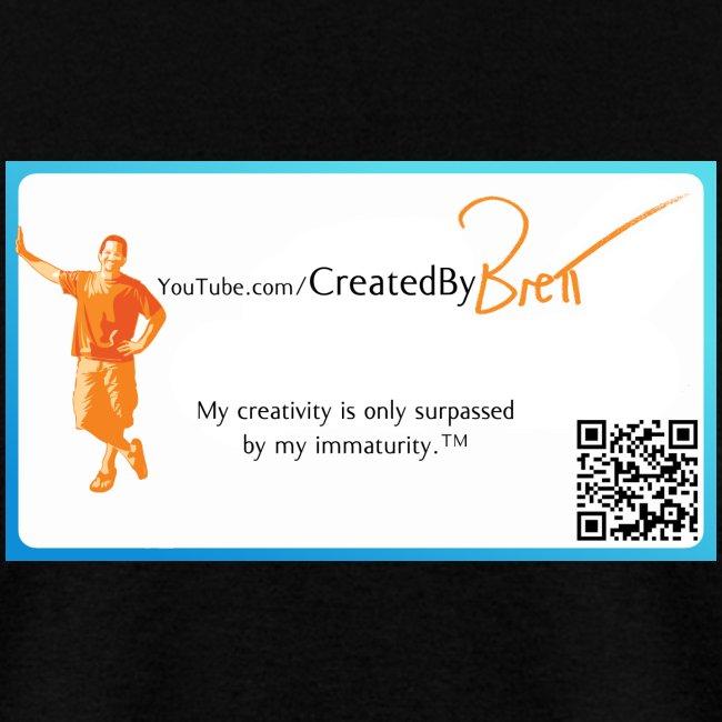 CreatedByBrett black tee (with URL on back)