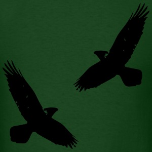 Asatru Viking Odins Ravens Hugin and Munin  - Men's T-Shirt